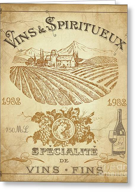 Vintage French Wine Label-jp3973 Greeting Card