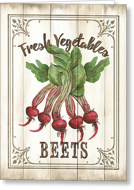 Vintage Fresh Vegetables 1 Greeting Card