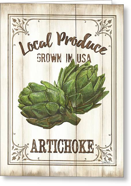Vintage Fresh Vegetables 2 Greeting Card