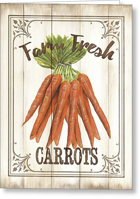 Vintage Fresh Vegetables 3 Greeting Card by Debbie DeWitt