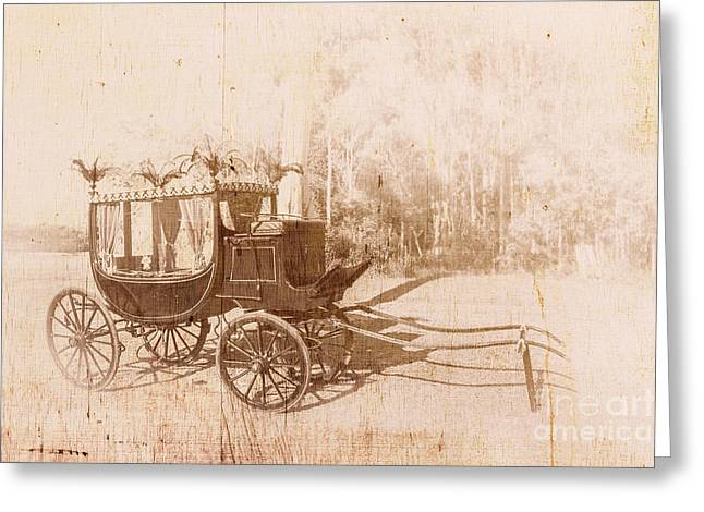 Vintage Funeral Hearse Greeting Card by Jorgo Photography - Wall Art Gallery