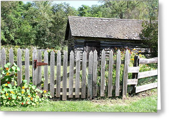 Vintage Garden Gate Greeting Card by Inspired Arts