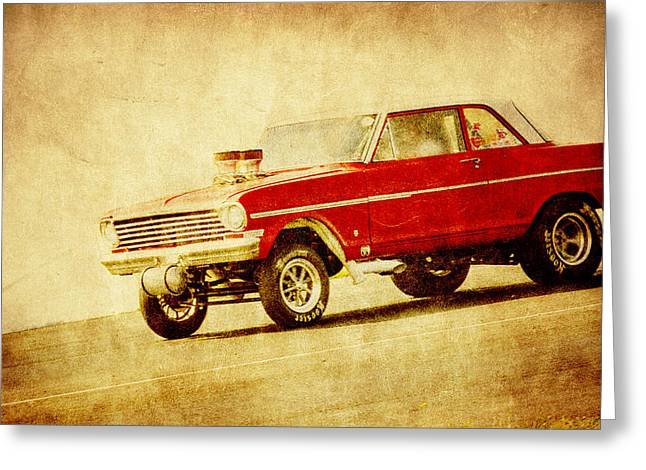Vintage Gasser Art Greeting Card