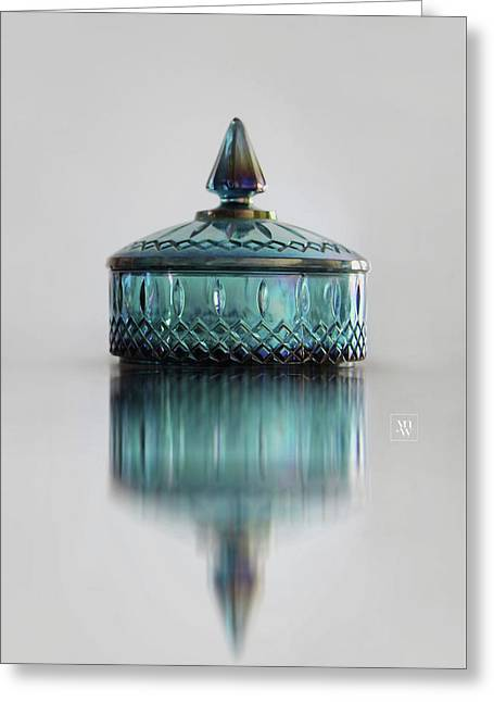 Vintage Glass Candy Jar Greeting Card