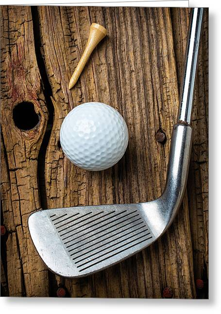 Vintage Golf Club Greeting Card
