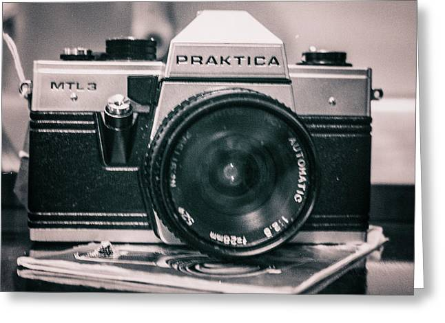 Vintage Gritty Camera Look Greeting Card