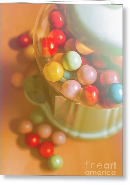 Vintage Gum Ball Candy Dispenser Greeting Card