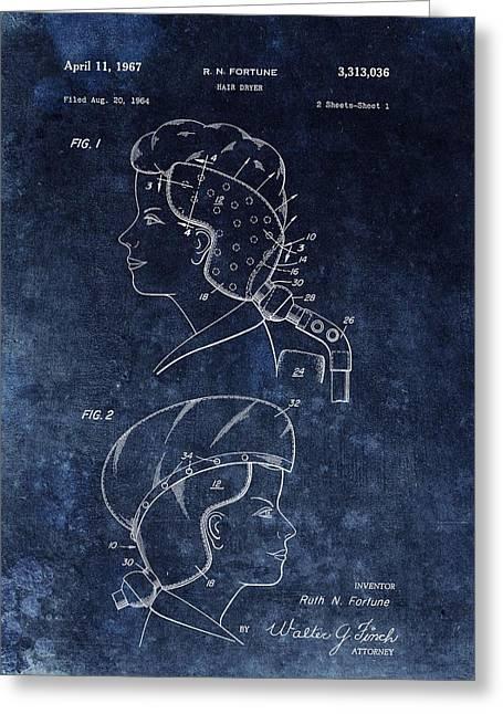 Vintage Hair Dryer Patent Greeting Card