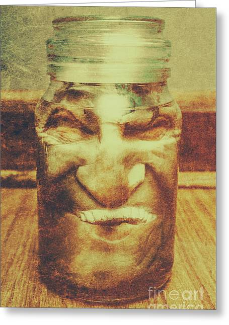 Vintage Halloween Horror Jar Greeting Card by Jorgo Photography - Wall Art Gallery