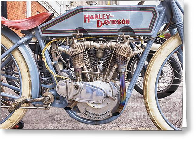 Vintage Harley Davidson Racer Greeting Card by Tim Gainey
