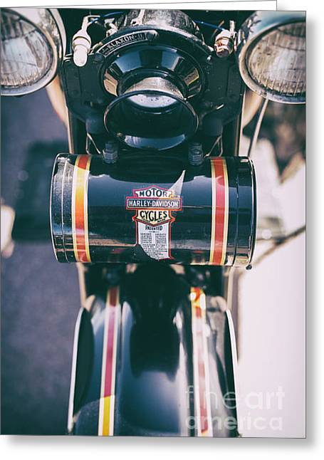 Vintage Harley Davidson Tool Box Greeting Card by Tim Gainey