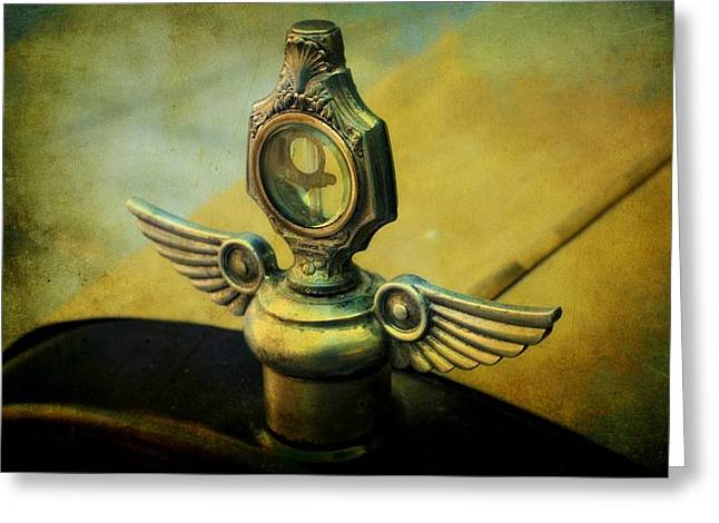 Vintage Hood Ornament Greeting Card by Cathie Tyler