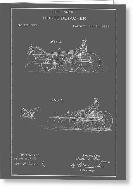Vintage Horse Detacher Patent Greeting Card