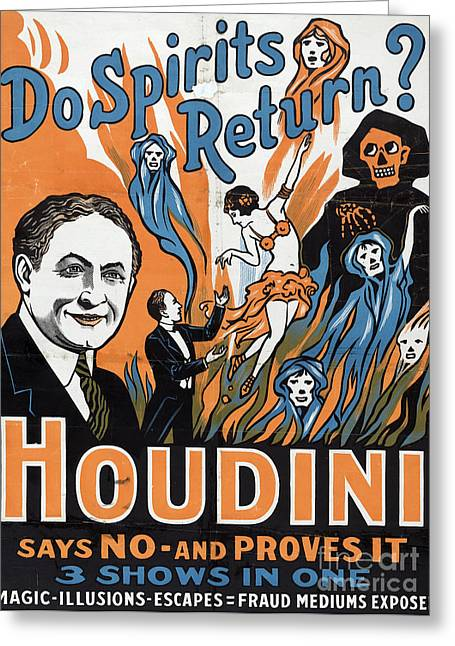 Vintage Houdini Poster Greeting Card
