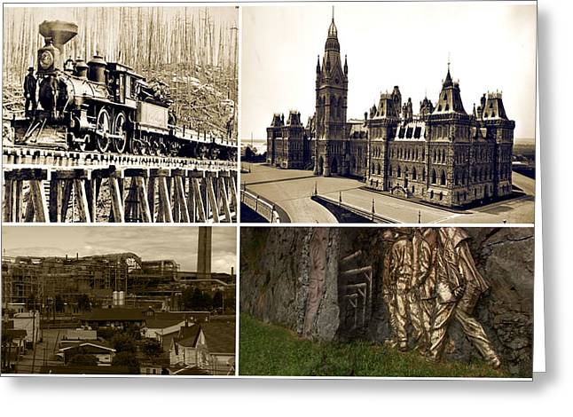 Vintage Images Canadian Mining Archive Of World War Period   Greeting Card by Navin Joshi