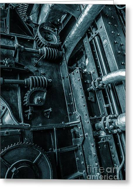 Vintage Industrial Pipes Greeting Card by Carlos Caetano