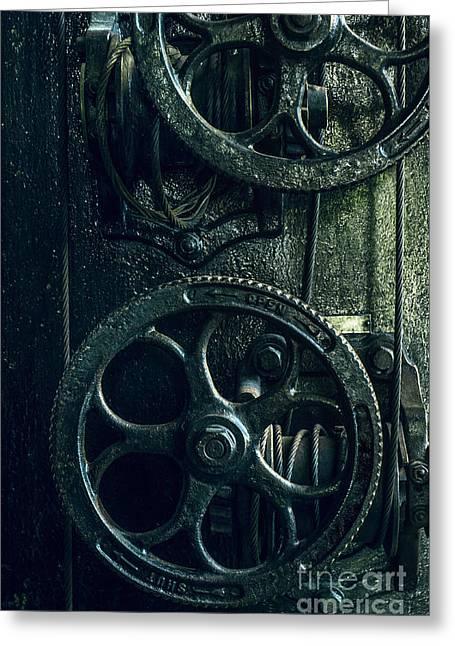 Vintage Industrial Wheels Greeting Card