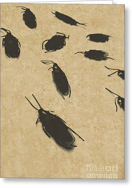 Vintage Infestation Greeting Card