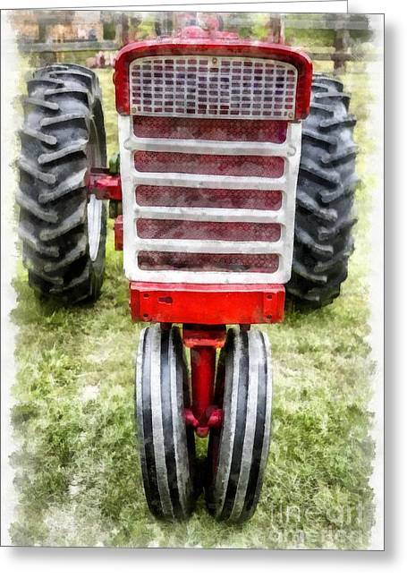 Vintage International Harvester Tractor Greeting Card by Edward Fielding