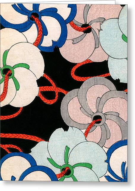 Vintage Japanese Illustration Of Camellias Greeting Card by Japanese School