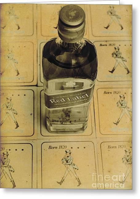 Vintage Johnnie Walker Advert Greeting Card