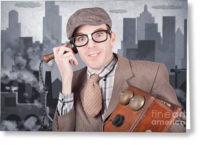 Vintage Journalist. Breaking News Press Release Greeting Card by Jorgo Photography - Wall Art Gallery