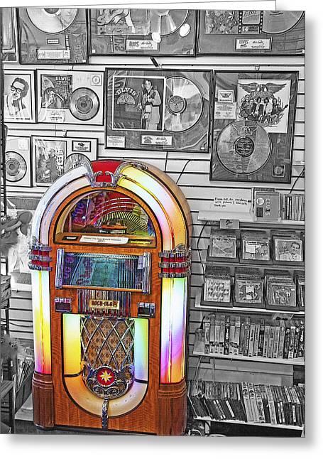 Vintage Jukebox - Nostalgia Greeting Card by Steve Ohlsen