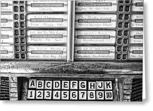 Vintage Jukebox Greeting Card