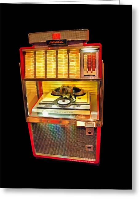 Vintage Jukebox Tee Greeting Card