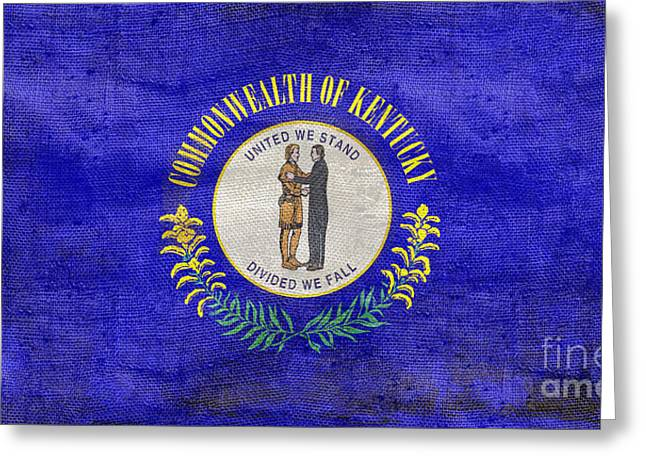 Vintage Kentucky Flag Greeting Card