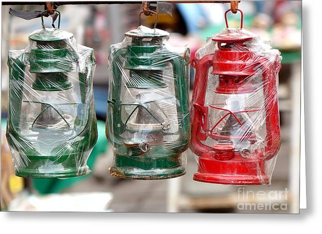 Vintage Kerosene Lanterns For Sale Greeting Card