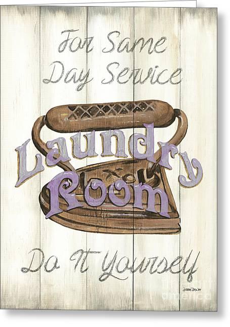 Vintage Laundry Room 1 Greeting Card