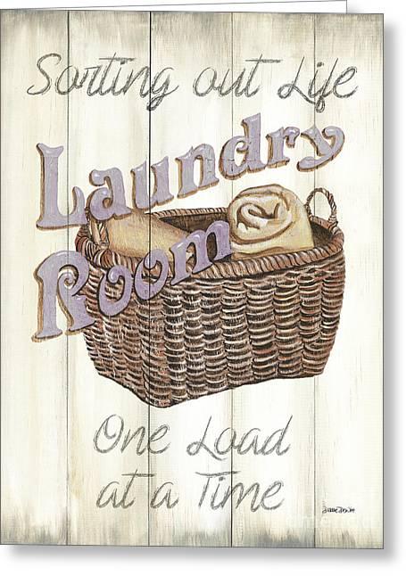 Vintage Laundry Room 2 Greeting Card