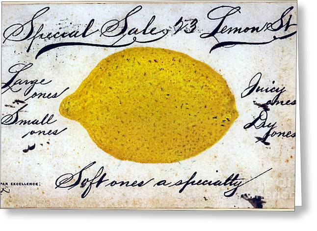 Vintage Lemon Sign Greeting Card