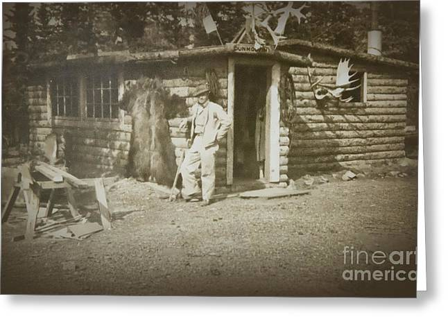 Greeting Card featuring the photograph Vintage Log Cabin by Linda Phelps