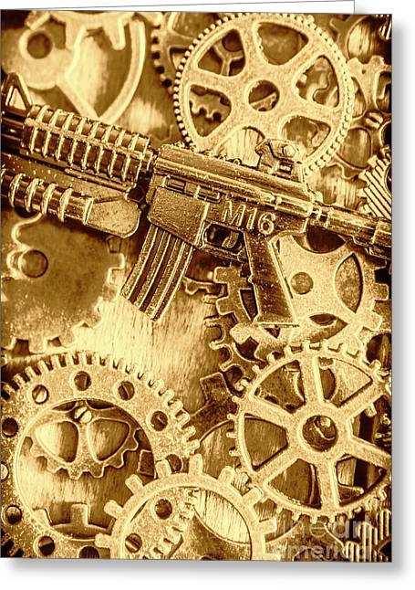 Vintage M16 Artwork Greeting Card by Jorgo Photography - Wall Art Gallery