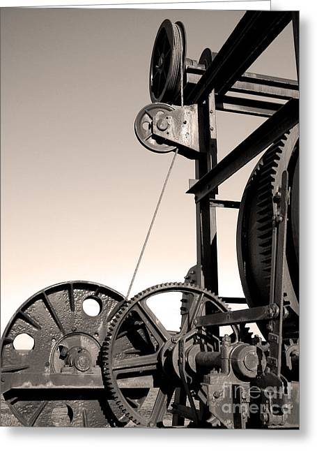 Vintage Machinery Greeting Card by Gaspar Avila