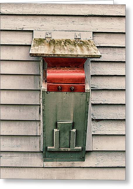 Greeting Card featuring the photograph Vintage Mailbox by Gary Slawsky