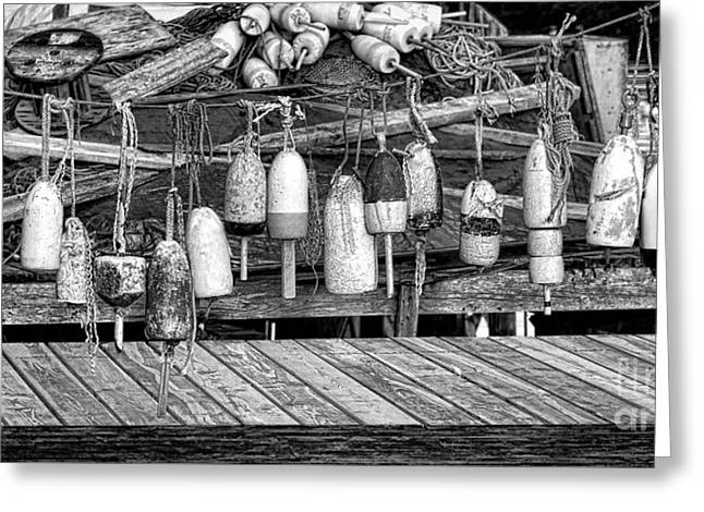 Vintage Maine Lobstering Greeting Card by Olivier Le Queinec