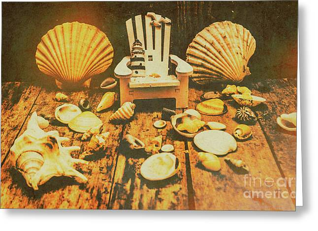 Vintage Marine Scene Greeting Card by Jorgo Photography - Wall Art Gallery