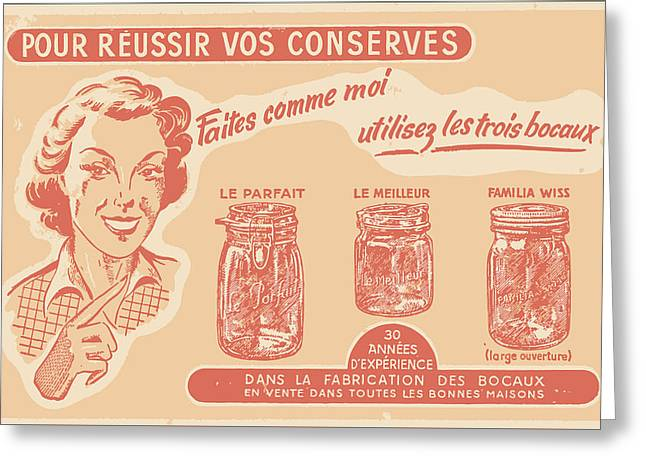 Vintage Mason Jar Advertisement Greeting Card