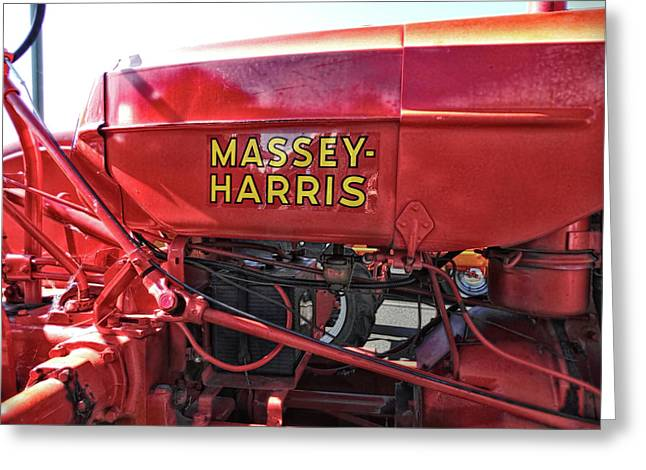 Vintage Massey Harris Tractor Greeting Card by Ann Powell