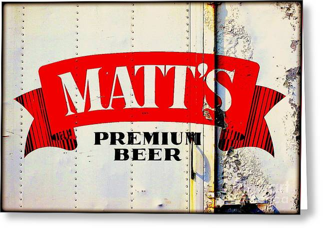 Vintage Matt's Premium Beer Sign Greeting Card