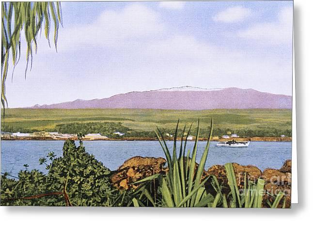 Vintage Mauna Kea Greeting Card by Hawaiian Legacy Archive - Printscapes