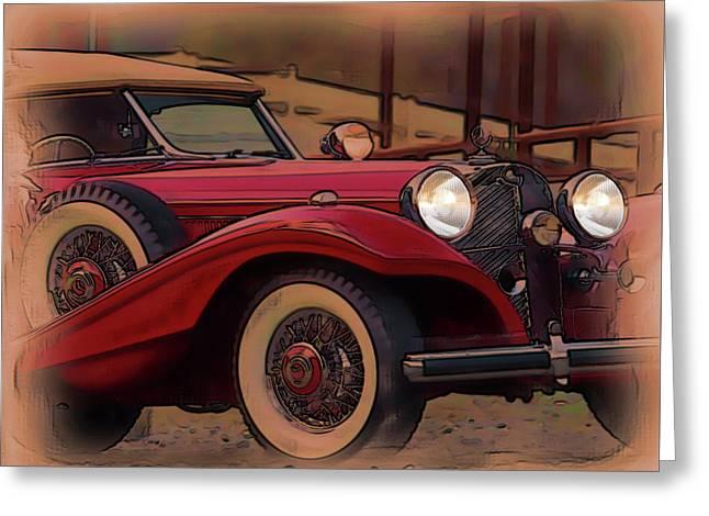 Vintage Mercedes Greeting Card