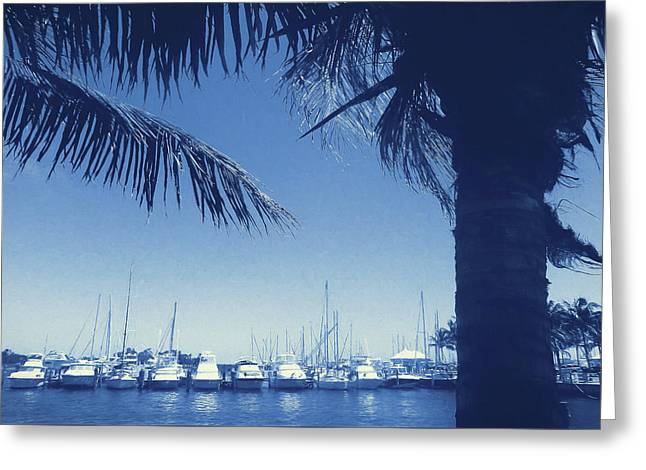 Vintage Miami Greeting Card by JAMART Photography