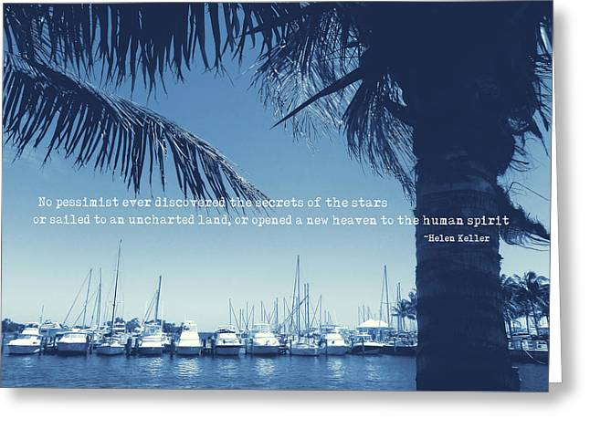 Vintage Miami Quote Greeting Card by JAMART Photography