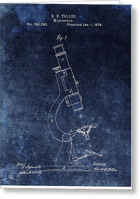Vintage Microscope Patent Greeting Card