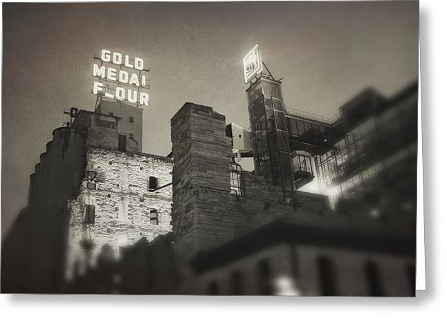 Vintage Mill City Greeting Card