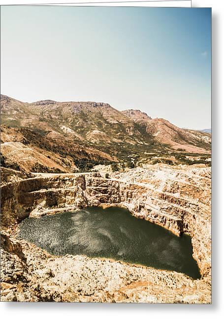 Vintage Mining Pit Greeting Card